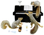 Squirrels at the Piano