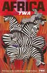 Africa, Zebras, Vintage Poster