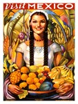 Mexico, Travel, Vintage Poster