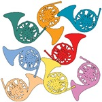 Colorful French Horns