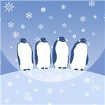 Penguin Quartet Cards and Ornaments