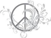 Swirls Peace Sign