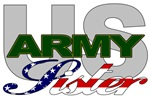 US Army Sister Stars & Stripes T-shirts & Gifts