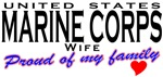 USMC Wife Proud of My Family T-shirts & Gifts