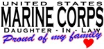 Proud USMC Daughter-In-Law T-shirts & Gifts