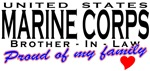 Proud USMC Brother-In-Law T-shirts & Gifts