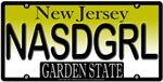 Nasty Girl New Jersey Vanity Licsense Plate Design
