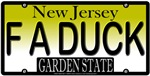 Fuck A Duck New Jersey Vanity License Plate Design