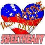 U.S. Marine Corps Sweetheart T-shirts & Gifts
