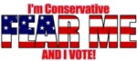 I'm Conservative and I VOTE! T-shirts & Apparel
