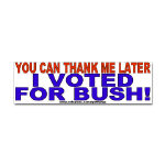 Bush Victory Bumper and Oval Stickers