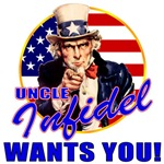 Uncle Sam lnfidel T-shirts, Apparel & Gifts