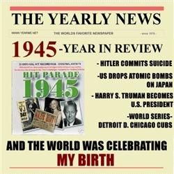 born in 1945 birthday gift