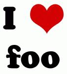 I Love foo