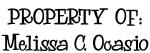 PROPERTY OF: Melissa C. Ocasio