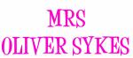 MRS OLIVER SYKES