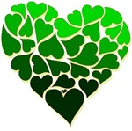 St. Patrick's Day green hearts