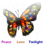 Twilight romantic butterfly design