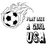 Soccer play like a girl USA