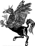 Bold Black (or white) Hippogriff