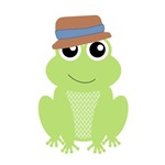 Funny Frog in a Hat