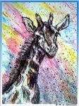 Giraffe, animal art