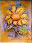 Sunflower, cheerful art,