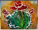 Bright cactus, southwest art