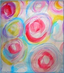 Abstract art, bright, colorful, fun