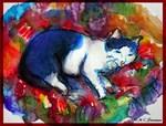 Cats, art,