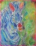 Zebra! Colorful wildlife art!