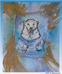 Polar bear, wildlife art!