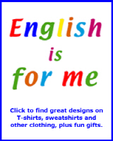 ENGLISH LEARNER T-SHIRTS & CLOTHING