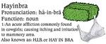 Hay In Bra Medical Definition