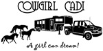 Cowgirl Cadi Horse Trailer