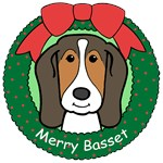 Basset Hound Christmas Ornaments