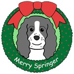 English Springer Spaniel Christmas Ornaments