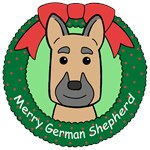 German Shepherd Christmas Ornaments