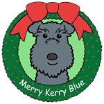 Kerry Blue Terrier Christmas Ornaments