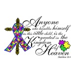 Autism Ribbon with Cross