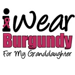 I Wear Burgundy For My Granddaughter T-Shirts