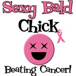 Sexy Bald Cancer Chick T-Shirts