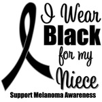 I Wear Black Ribbon (Niece) Melanoma T-Shirts