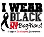 Melanoma I Wear Black For My Boyfriend Shirts