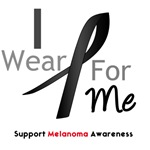 Melanoma I Wear Black For Me Shirts