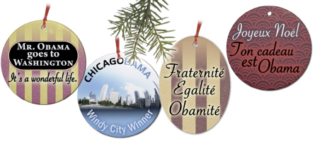 Obama Holiday Ornaments