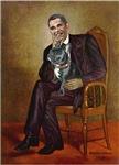 Obama (as Lincoln) - French Bulldog (BW11)