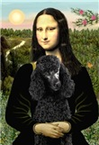 MONA LISA<br>& black Standard Poodle #2
