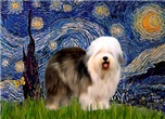 STARRY NIGHT<br>& Old English Sheepdog
