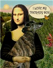 MONA LISA & HER<br>Greyhound Therapy Dog (br)